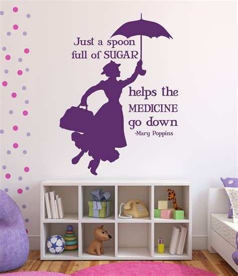home decor wall decals disney wall decals poppins disney home decor