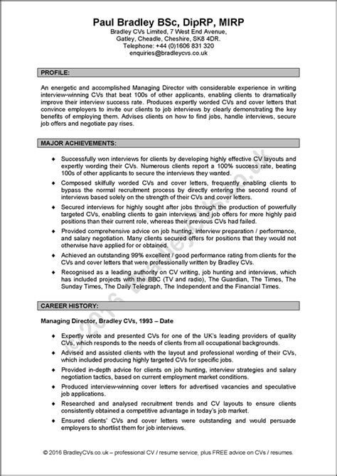 professional cv template uk why should you choose bradley cvs rather than another cv