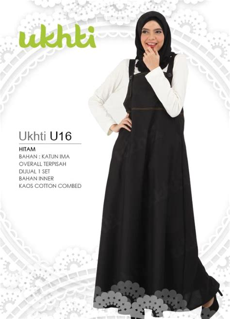 Ukhti Gamis Premium U15 1 u16 ukhti overall gamis bahan katun ima ukhtimunira