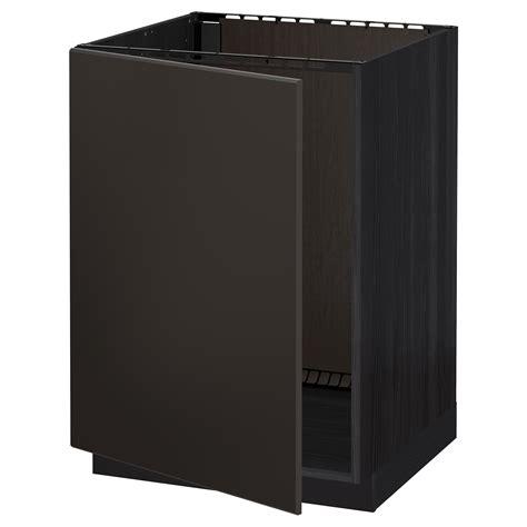 Ikea Sink Cabinet Kitchen Metod Base Cabinet For Sink Black Kungsbacka Anthracite 60x60 Cm Ikea