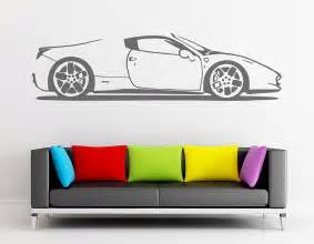 Car Wall Sticker Spider Sports Car Vinyl Wall Sticker Contemporary Wall