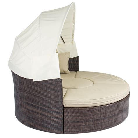 outdoor round couch outdoor patio sofa furniture round retractable canopy