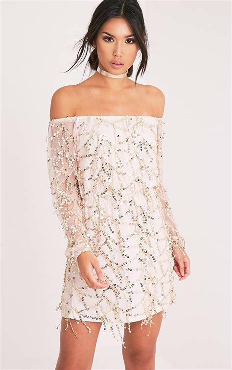 Dress Premium 2warna Silvergold white dress white dresses prettylittlething