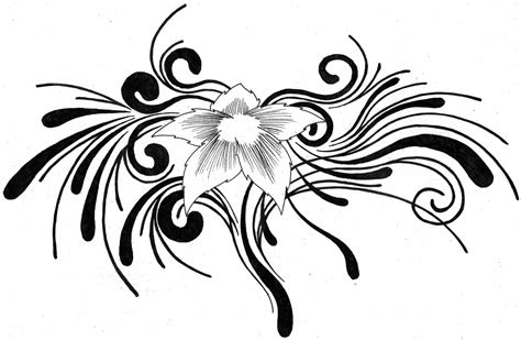 tribal tattoo with flower tribal flower by aglinskas on deviantart