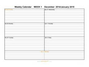 Weekly Calendar Template Free by Free Weekly Calendar Template Search Results Calendar 2015