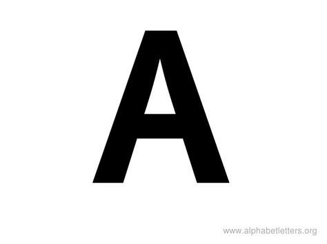 Big Printable Letters