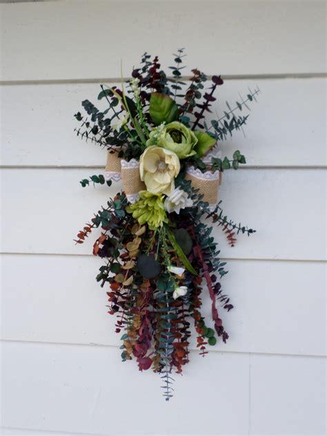 summer eucalyptus door swag  dried floral swag