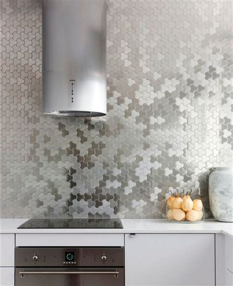 metallic backsplash tile make a statement with a metallic kitchen backsplash
