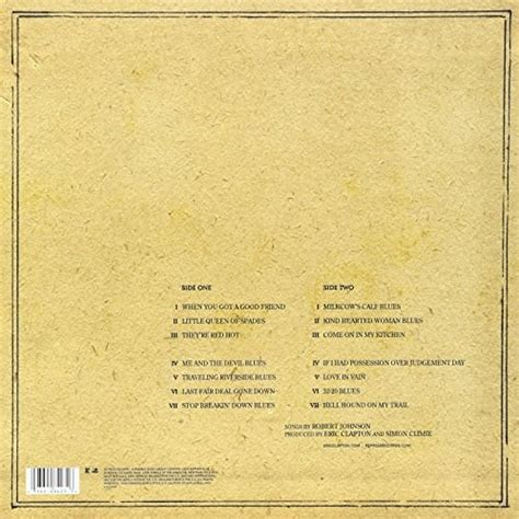 Eric Clapton Me And Mr Johnson Vinyl - eric clapton me and mr johnson lp