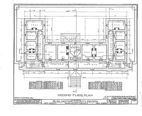 prison floor plan burlington county prison diagrams burlington county prison mt new jersey