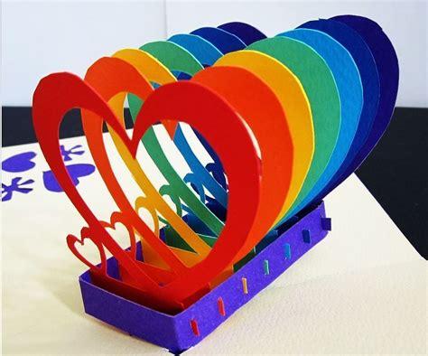 Rainbow Pop Up Card Template by Rainbow Pop Up Card