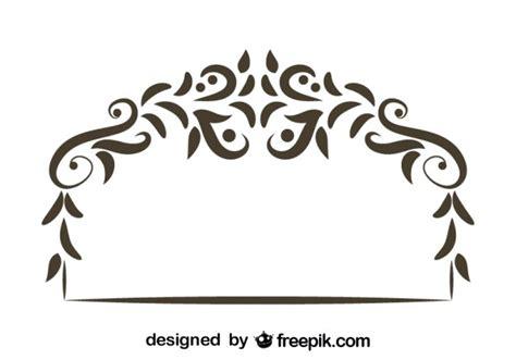 floral decorative retro header design vector free