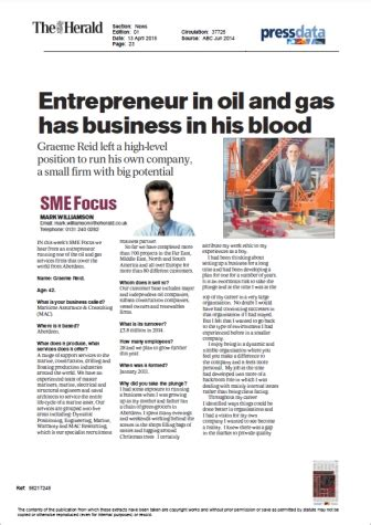 Aberdeen Business School Mba And Gas Management by Mac 187 News 187 Aberdeen And Gas Engineering Entrepreneur