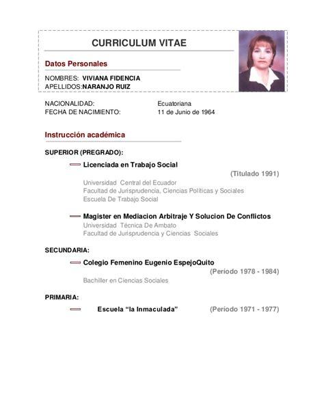 Modelo De Curriculum De Trabajo Pdf Curriculum Trabajo