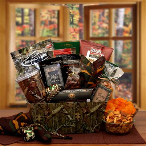 camo theme gift package camouflage gifts baskets for men