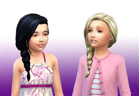sims 4 side braids braid side for girls at my stuff 187 sims 4 updates