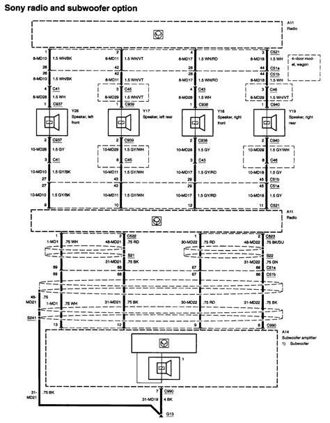 2003 ford focus radio wiring diagram fitfathers me