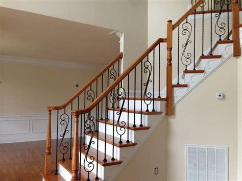 rod iron stair railing make your stairway shine
