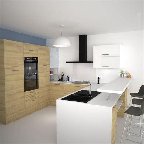 r駭ovation cuisine en bois id 233 e relooking cuisine cuisine en u avec meubles d 233 cor