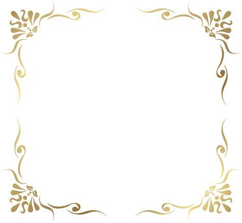 transparent decorative frame border png picture a