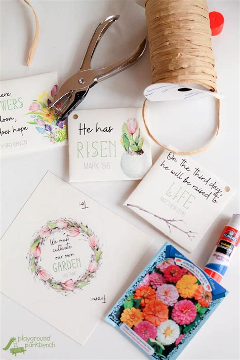 gifts for sunday school students diy printable biblical seed packets for easter