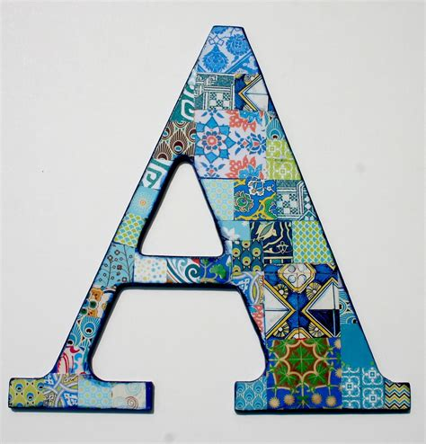 Wooden letters for Nusery Nursery Letter A Decoupage Letter A