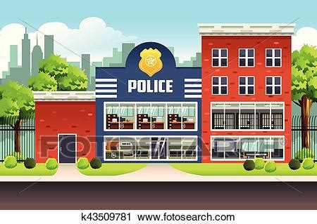 clipart of police station k43509781 search clip art
