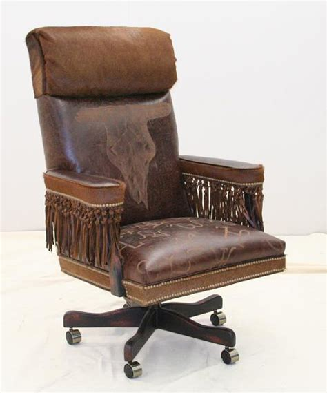 Western Office Furniture by Broken Skull Western Office Chair Hickory Tannery