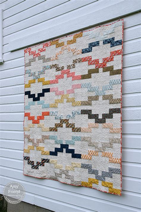 Modern Patchwork Quilt Designs - interlock in modern patchwork during time jelly