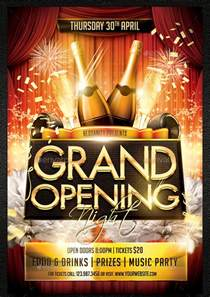 Grand Opening Flyer Template by Grand Opening Flyer Template 34 Free Psd Ai Vector