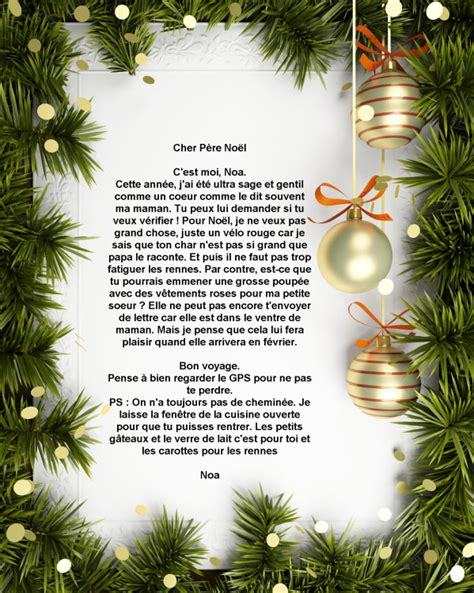Exemple De Lettre Noel Une Lettre Pour Noel Mod 232 Le De Lettre
