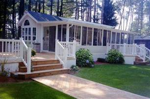 Pre Built Sunrooms 45 Great Manufactured Home Porch Designs