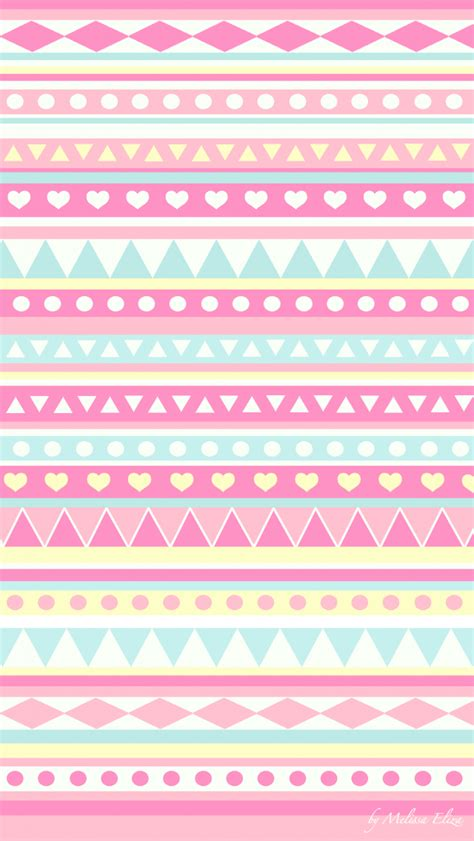 love pattern pastel tribal pretty pastel colors cute phone wallpaper