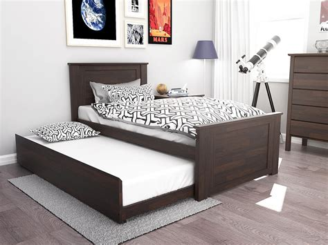 fantastic single trundle bed hardwood modern b2c