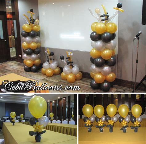 Black Gold Silver Decorations by Gold Black Silver Balloons For Hallar Associates At City Sports Cebu