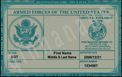 us army id card template blank id card template templates data