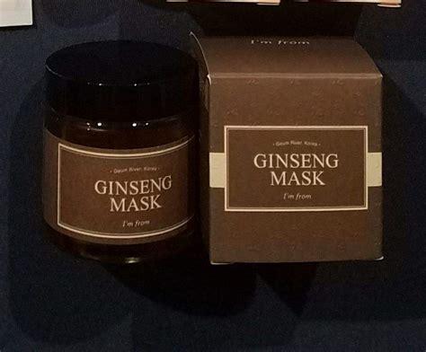 Sale Ori The Shop Mineral Ginseng Mask Masker wishtrend hauliday challenge 2017 korean amino