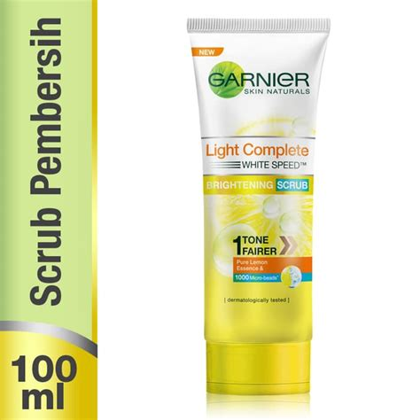 Garnier White Speed Scrub jual garnier light complete white speed scrub 100 ml