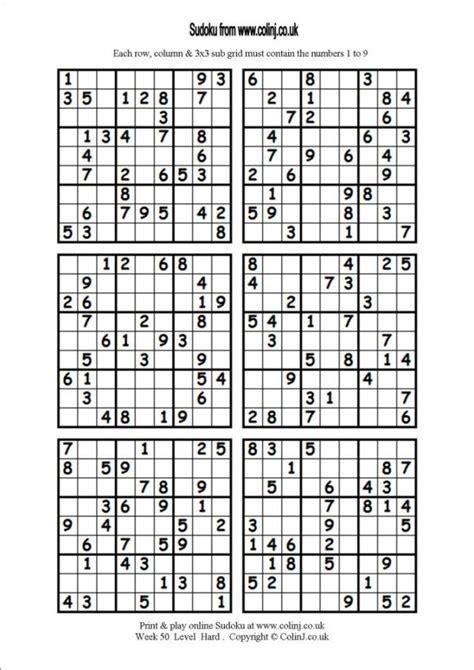 printable sudoku 4 on a page sudoku 6 per page printable puzzles 370114 portray