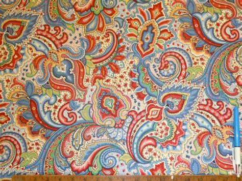 color paisley floral design decorator fabric