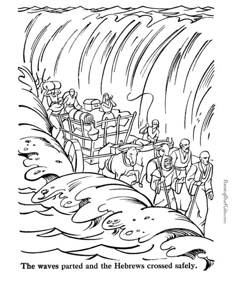 Parting Of The Red Sea Coloring Page Az Coloring Pages Parting Of The Sea Coloring Page