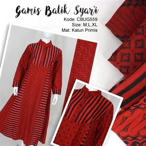 Batik Syari Merah comfy syari dress batik merah gamis batik murah