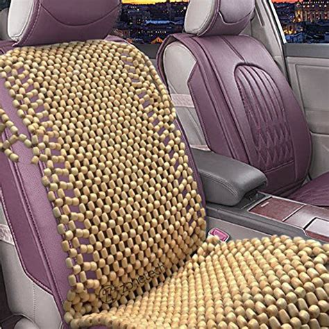 cool touch comfort cushion zone tech natural royal wood bead seat cover massage cool