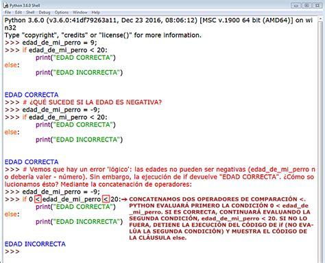 comparacion de cadenas en python aprender a programar con python sentencia if elif else