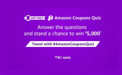 amazon quiz winner answers added amazon coupons quiz answer win rs