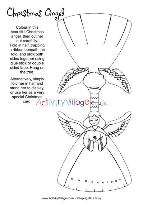 christmas angel colouring craft