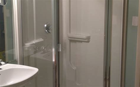 Semi Frameless Neo Angle Shower Door With 1 4 Quot Thick Glass Thick Glass Shower Doors