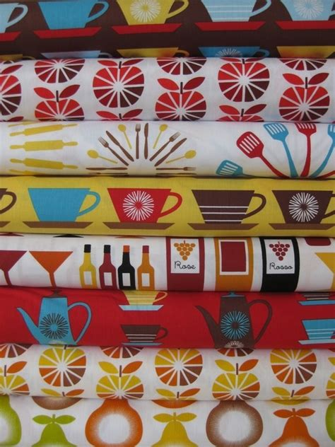 Retro Kitchen Fabric by Retro Kitchen Fabric Vintage Any And Everything