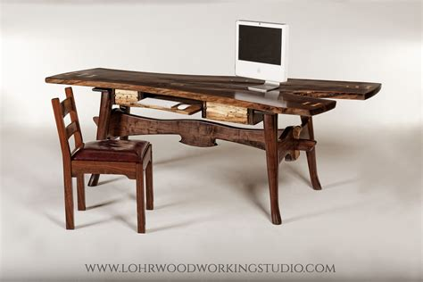 live edge computer desk great expectations walnut desk lohr woodworking studio