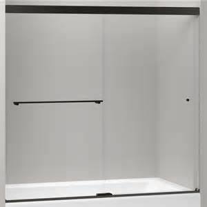shop kohler revel 59 625 in w x 62 in h frameless bathtub